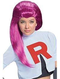 Rubies Costume Pokémon Jessie Adult Wig, Red, One Size