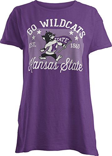 Three Square by Royce Apparel NCAA Kansas State Wildcats Abingdon Short Sleeve T-Shirt, Small, (Kansas State Logo Square)