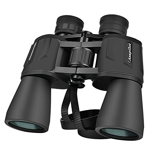 10 x 50 Binoculars for Bird Watching Stargazing Outdoor Climbing Sport Game Concerts, Fully Coated Lens, Strap Rubber