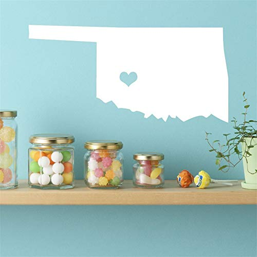 Natrire Wall Stickers Decal Removable Vinyl Decal Art Mural Home Decor Oklahoma State Wall Decal - Map Decoration for Living Room Bedroom