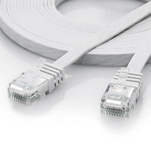 5m - CAT.6 Ethernet Gigabit Lan Netzwerkkabel / Flachbandkabel / Verlegekabel (RJ45) | 10/100/1000Mbit/s | Patchkabel flach | kompatibel zu CAT.5 / CAT.5e / CAT.7 | Switch/Router/Modem/Patchpannel/Access Point/Patchfelder
