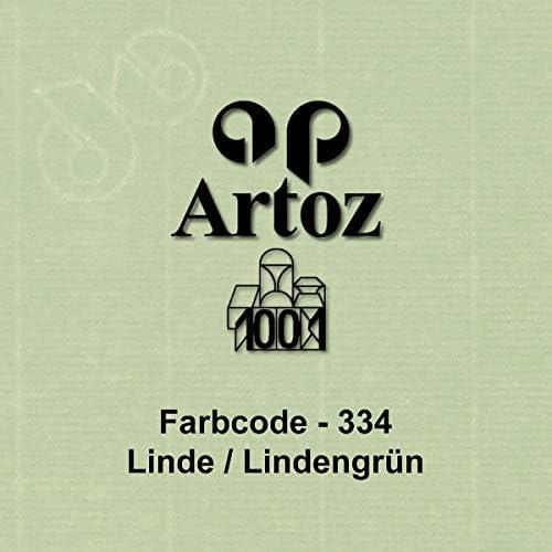 ARTOZ 50x DIN C4 Umschläge mit Haftklebung - ungefüttert 324 x 229 mm Birkengrün (Grün) Briefumschläge ohne Fenster - Serie 1001