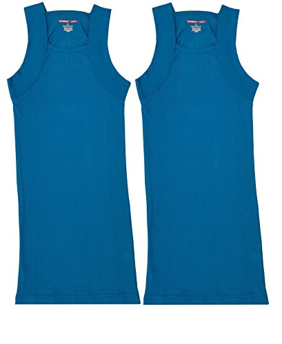 011ecfd80 2 Pack Men's G-unit Style Tank Tops Square Cut Muscle Rib A-Shirts