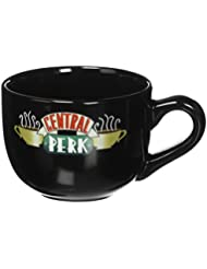 Friends Central Perk Latte Coffee Mug 16oz - Choose White or Black (Black 16oz)