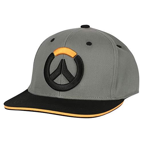 JINX Overwatch Blocked Stretch-Fit Baseball Hat, Black, One Size