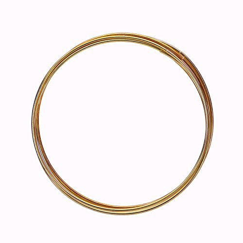 eBoot 5 Pack Gold Metal Rings Hoops Macrame Rings for Dream Catcher and Crafts (6 inch)