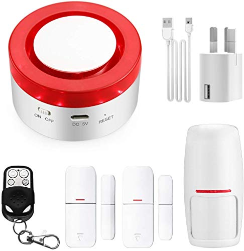 TUYA Smart Home Security Alarm Siren System, Hacevida T1 Wireless WiFi Burglar Siren Alarms, Compatible with Alexa and…