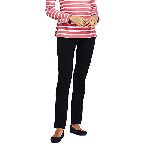 (Lands' End Women's Starfish Slim Leg Elastic Waist Pants Mid Rise, XL, Black)