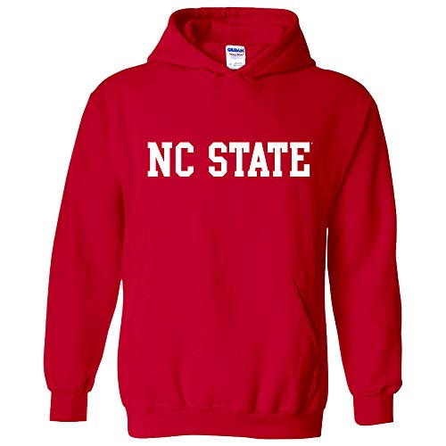 AH01 - North Carolina State Wolfpack Basic Block Hoodie - Small - Red
