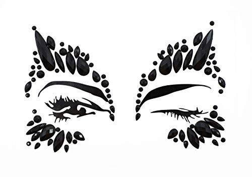 Halloween Face Jewels crystal Gem Bindi Body Jewelry Stickers Rhinestone Tattoo Temporary Face Rock ()