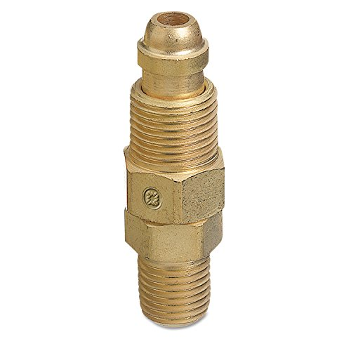 Western Enterprises Aw 427 Inert Arc Hose   Torch Adapters  Brass  Straight  Rh  Male Male Connection  0 5 Length  B Size