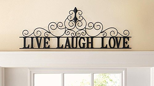 tal Scroll Live Laugh Love Wall Art - Home Decor Accent (Decorative Metal Scroll)