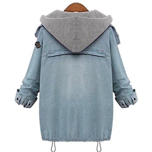 Donne Invernali Caldo Cappotto,Homebaby Giacca con cappuccio del collare Denim Trench Parka Outwear