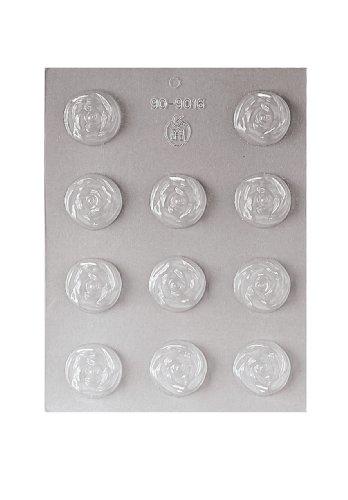 Paderno World Cuisine 11 Imprint 1-1/2-Inch Diameter Polypropylene Chocolate Mold, Rose ()