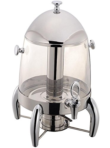 Stainless Steel Heavy Duty Cold & Hot Juice Drink Dispenser With Center Ice Core,durable and, Chafer includes Fuel Holder, 3 Gallon, transparent - material