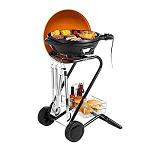 Electric BBQ Grill Non Stick Barbecue Smokeless Outdoor Indoor Camping Cooking 1350 w