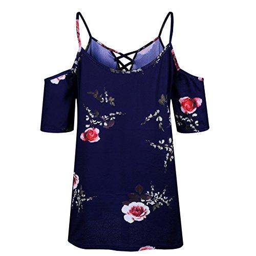 RAFAGO Navy Sexy Dress Print Wrap Blue Strap rrZq1X