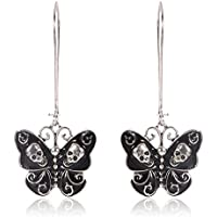 Sale Elegant Women Vintage Punk Alloy Jewelry Butterfly Skull Dangle Earrings