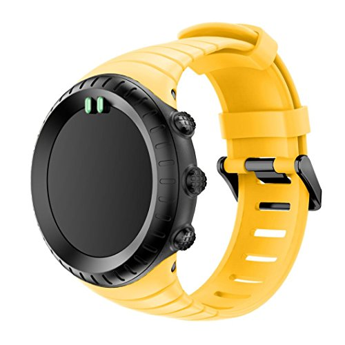 VESNIBA New Fashion Sports Silicone Bracelet Strap Band for Suunto Core (Yellow)