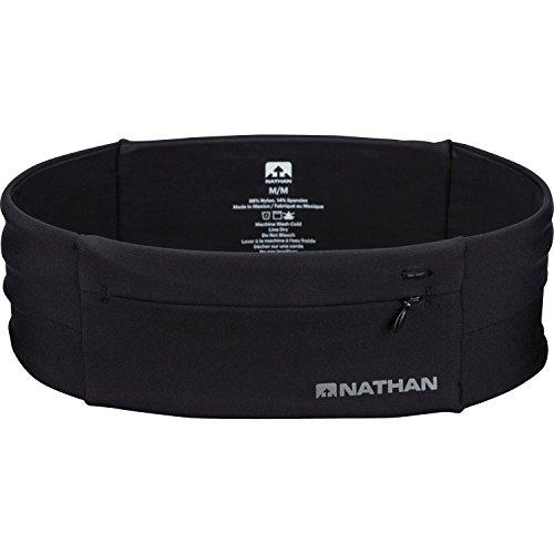 Nathan NS7702-0015-31 7702 The Zipster Running Waist Belt, Black, X-Small