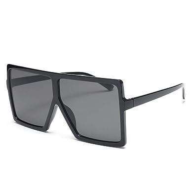 YANJING Gafas sol Gafas de sol de gran tamaño cuadradas ...