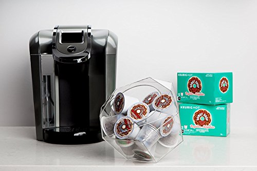 Nespresso VertuoLine hexagonal - cápsula soporte para cápsulas, De plexiglás transparente dispensador, solución de almacenamiento para máquinas Nespresso y ...