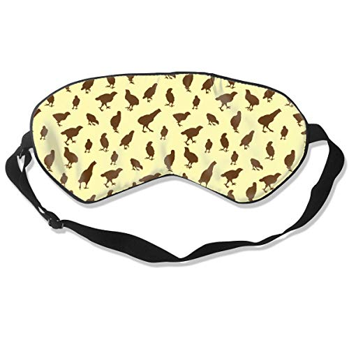 Oh-HiH 100% Silk Eye Mask Chicken Hen Yellow Sleeping Blindfold Blocks Light Eye Cover -
