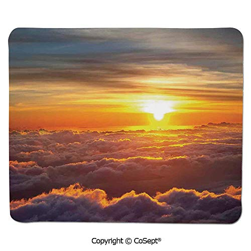 Mouse Pad,Sunset Scenery Over The Clouds Imaginary Secret Weather Lands Natural Wonders on Earth,for Computer,Laptop,Home,Office & Travel(15.74