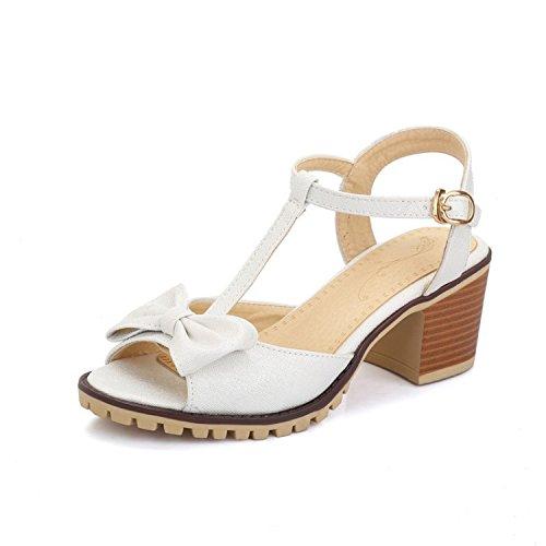 Qin Bajo amp;x Mujeres Tacón Zapatos De Las Verano Sandalias vN08mwn