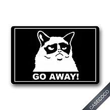 Custom Go Away Cat Doormat Door Welcome Mat Rug Cover Sign Outdoor Indoor Floor Mats Non-Slip Machine Washable Decor Bathroom Mats
