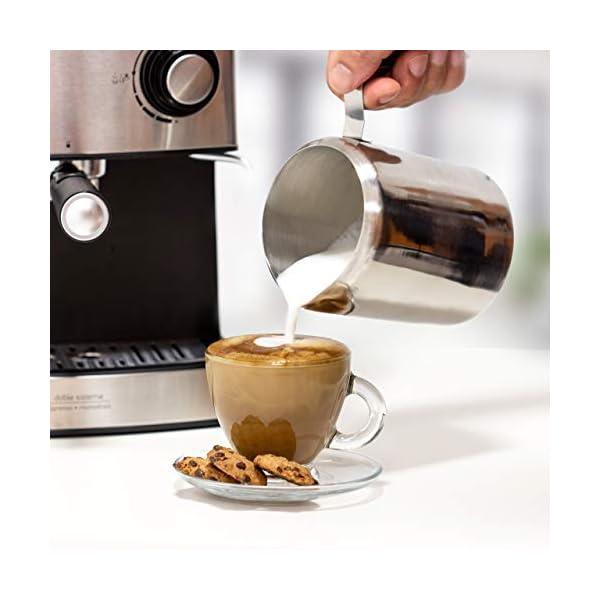 Ufesa CE7240 Macchina caffè espresso, 850 W, Serbatoio estraibile da 1,6 L, 20 bar, 2 opzioni d'uso: Come macchina da… 3