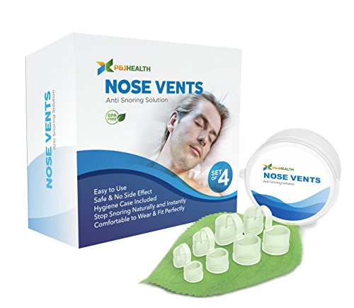 P & J Health - New Upgraded Nose Vents, Anti Snoring Solution, Ease Breathing and Snoring (Set of Four)