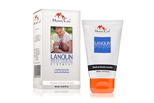 Breastfeeding Ointment (Mommy Care Lanolin Breastfeeding Cream 40ml/1.35 fl.oz Mothers Nipple Relief Ointment Certified Organic All Natural Anti Cracking Sore Free Nipple Cream)