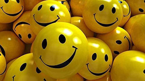 Generic Medium Sized Smiley Soft Balls  SET OF 12