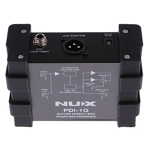 MagiDeal Professional NUX PDI-1G Guitar Direct Injection Phantom Power Box Audio Mixer Para Out by MagiDeal (Image #5)