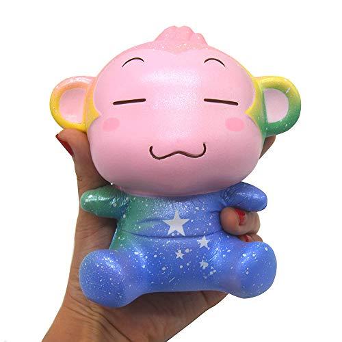 Kiibru Squishy Monkey Slow Rising Squishies Scented Soft Toy Cute Squeeze Cartoon(Galaxy) -