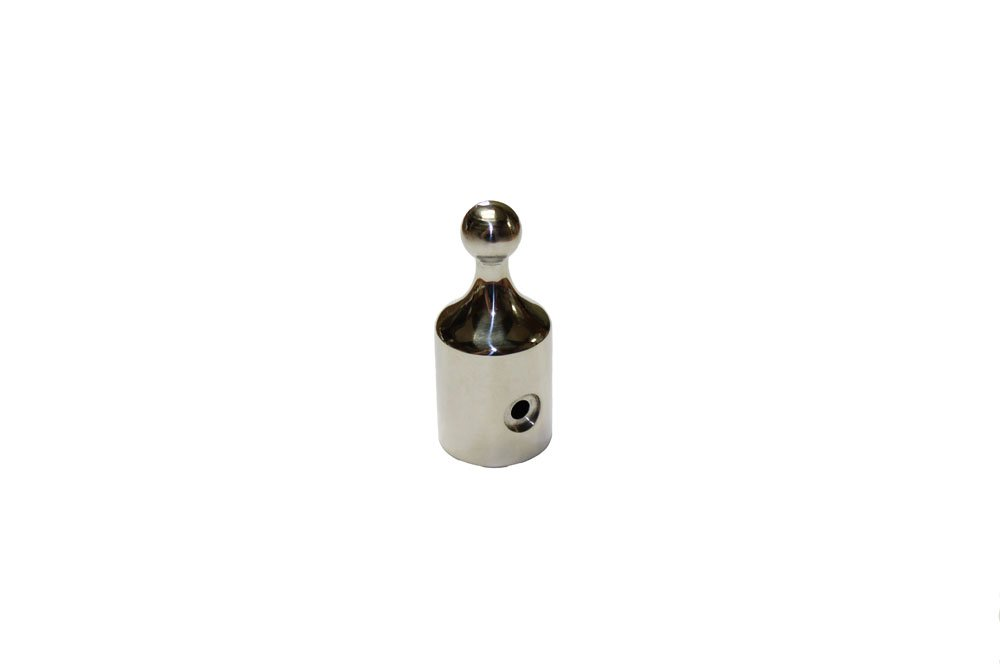 Bimini Top Stainless Steel Eye End Ball 7/8'' Drilled for a Rivet