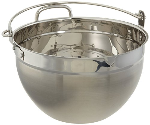 CucinaPro Stainless Steel Maslin Jam Pan - 9909, Dishwasher Safe, Pouring Spout, Black
