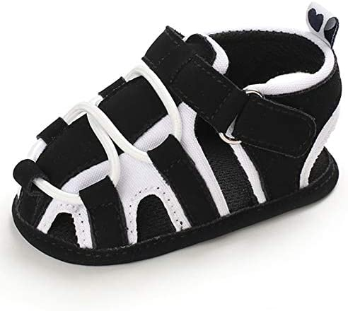 TIMATEGO Infant Baby Boys Girls Summer Sandals Soft Sole Anti-Slip Newborn Toddler First Walkers Crib Athletic Shoes(0-18 Months)