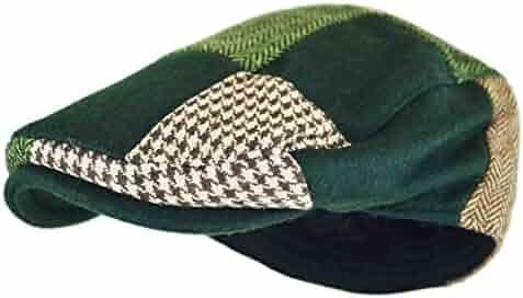 ddc3337e416 Wonderful Fashion Men s Classic Herringbone Tweed Wool Blend Newsboy Ivy Hat  (Large X-