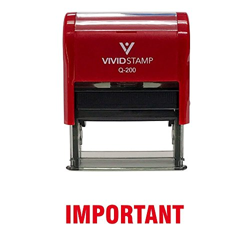 Important Self Inking Rubber Stamp (Red Ink) - Medium ()