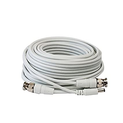 GW Security 25 Feet Professional Grade RG59 Siamese Combo Coaxial Cable Pre-made All-