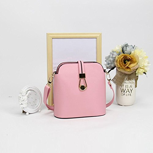 Color Body Messenger Lady Bag Shoulder Bag Shell Bag Style Women Pink Candy Cross YipGrace Fresh aAHwxf5qH