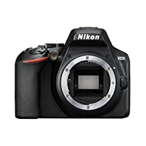 "Nikon D3500 - Cámara réflex de 24.2 MP (DX, CMOS, montura F, ISO 100-25600, USB, LCD TFT de 3.2"", botón AE-L/AF-L, CPU,modo automático) - kit con objetivo 18/55, color negro"