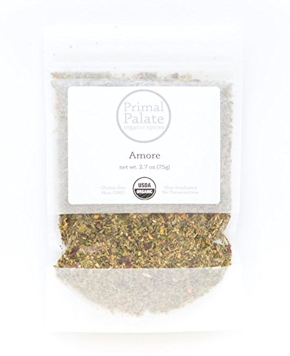 Primal Palate Organic Spices, Amore Seasoning, Certified Organic, 2.7 oz resealable bag by Primal Palate Organic Spices