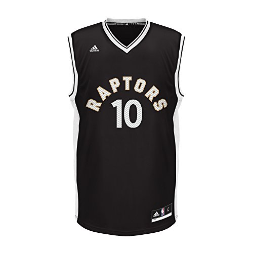 NBA Unisex Toronto Raptors DeMar DeRozan Chevron Fashion Replica Jersey, Large, Black (Jersey Raptors Black)
