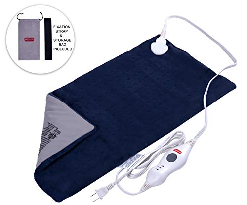 - Sunbag King Size Dry/Moist Electric Heating Pad with Fast-Heating, Auto Shut Off, 3 Heat Settings,Pain Relief for Back, Knee, Neck and Shoulder, Convenient Storage Bag 12