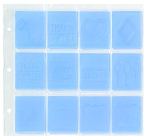 We R Memory Keepers EZ-Store 2-Inch by 2-Inch Embossing Folder Storage Sheets, 12-Pocket, 4-Pack (Ez Store Die Sheets)