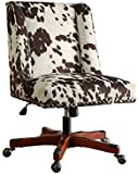 Office Chair in Udder Madness Milk  sc 1 st  Amazon.com & Amazon.com: Linon AMZN0245 Clayton Cow Print Office Chair Brown ...
