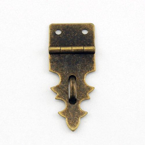 B204 - 3/4'' Width X 1 7/8'' Height Small Antique Brass Decorative Hasp